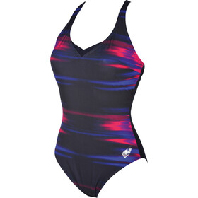 arena Kate Light Cross Back C-Cup One Piece Swimsuit Dames, rose violet-navy